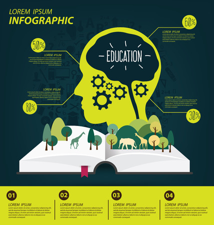 elementary kids: Education concept vector Illustration