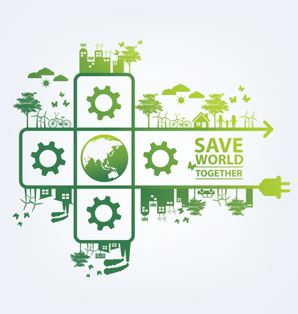 save earth: Ecology concept. save world vector illustration. Illustration