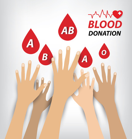 give: blood donation concept. Vector illustration.