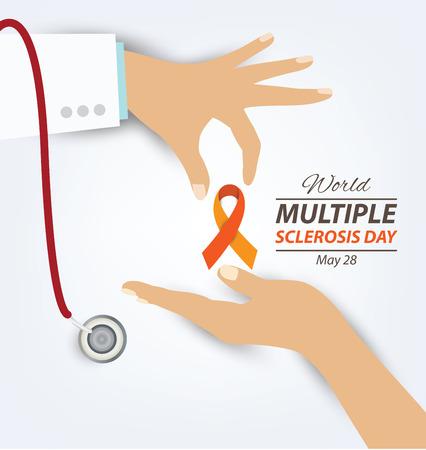 multiple sclerosis: World Multiple Sclerosis Day. Vector illustration. Illustration