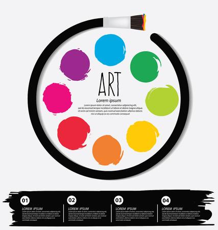 Art concept. Paint brush. vector Illustration. Illustration