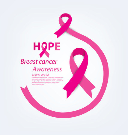 cancer de mama: cuidado de la salud y el concepto de la medicina. rosa del c�ncer de pecho cinta de la conciencia ilustraci�n vectorial.
