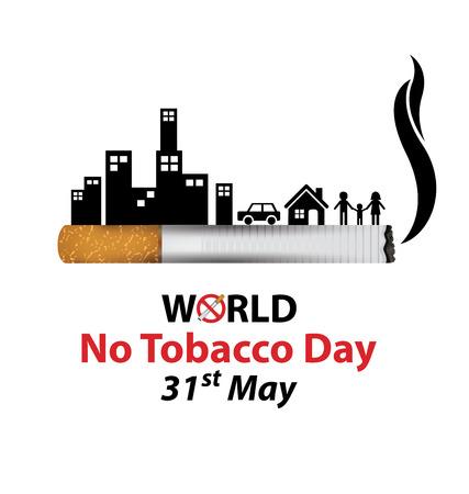 세계 담배 연기의 날 개념입니다. 벡터 일러스트 레이 션.