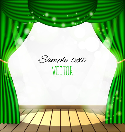 Green curtains background