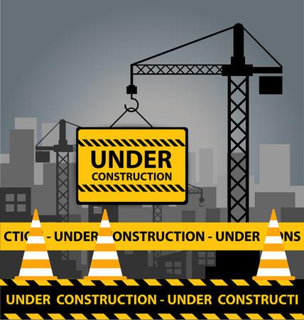 Under construction concept.  Illusztráció