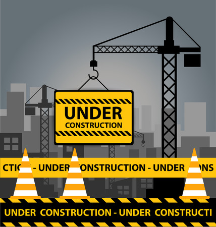 Under construction concept.  Vector