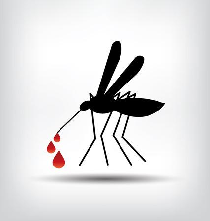 fiebre: ilustraci�n de la muestra de mosquitos. Vectores