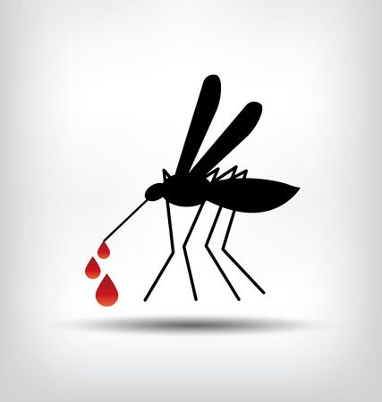 infected mosquito: mosquito sign illustration.