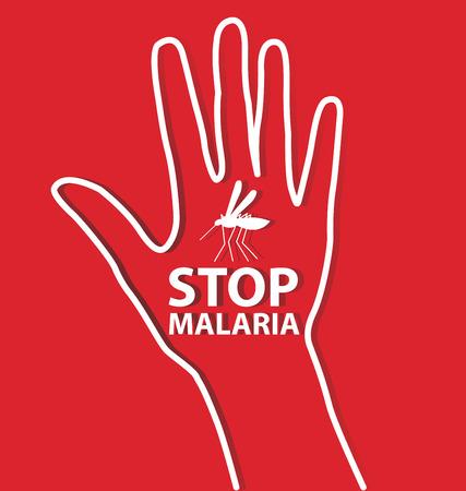 Stop Malaria sign illustration.