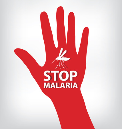 infection prevention: Stop Malaria sign illustration.