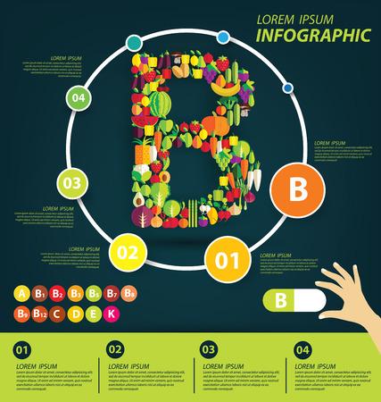 mineralien: Vitamine und Mineralien Konzept. Vektor-Illustration. Illustration