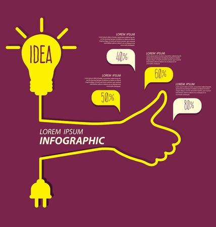 Light bulb with idea concept Vector