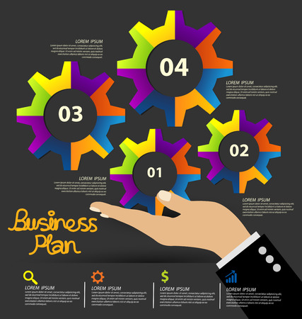 Negocios ilustración vectorial infografía Vectores