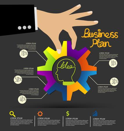 posicionamiento de marca: Negocios ilustración vectorial infografía Vectores