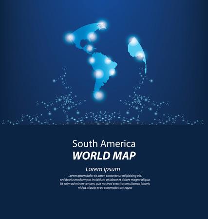 continente americano: Mapa del Mundo vector Ilustración Vectores