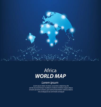 cartina del mondo: Mappa del mondo illustrazione vettoriale Vettoriali