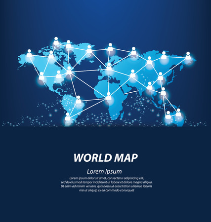 World Map vector Illustration 일러스트
