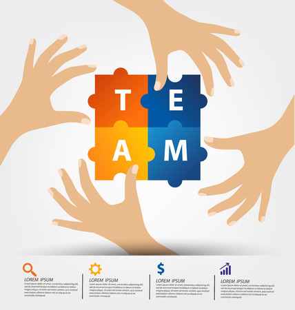trabajo en equipo: Concepto de ilustración vectorial Trabajo en equipo.