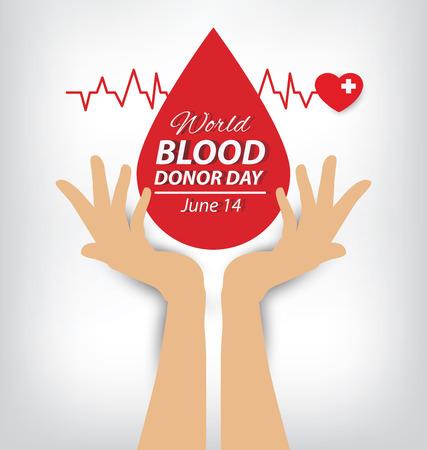 blood donation concept. Vector illustration.