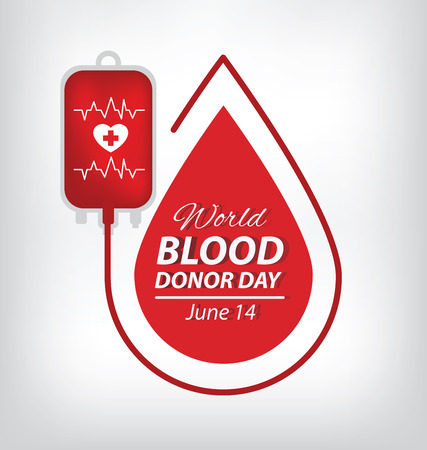 bleed: blood donation concept. Vector illustration.