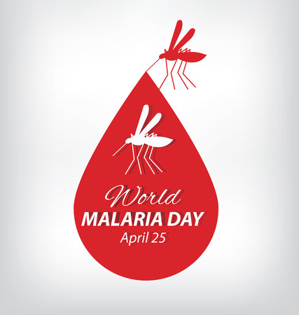 insect mosquito: World Malaria Day. vector illustration.