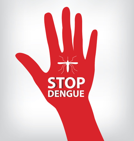 dead insect: Stop Dengue Sign. vector illustration.