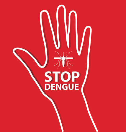 infected mosquito: Stop Dengue Sign. vector illustration.