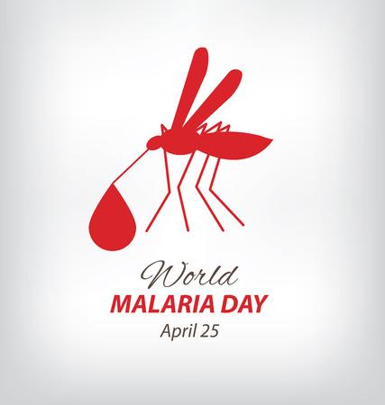 infectious disease: D�a Mundial de la Malaria. ilustraci�n vectorial.