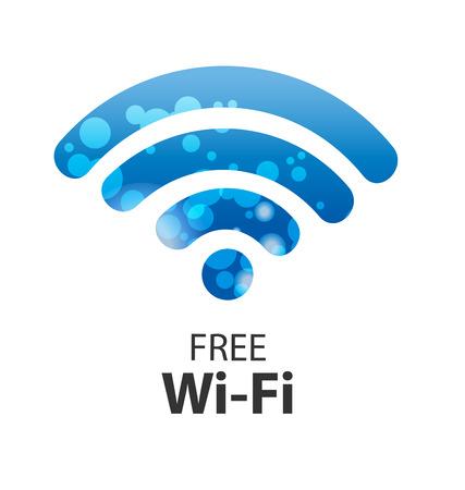 vector wifi symbol, free wifi Vettoriali