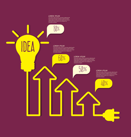 energy efficient light bulb: Light bulb with idea concept Illustration