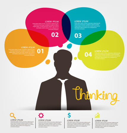 swot analysis: Thinking concept. Business concept vector illustration.