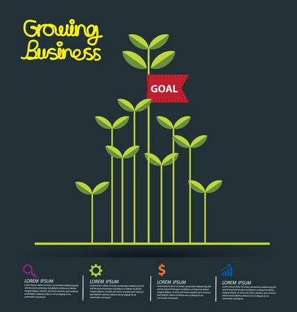 crecimiento: El crecimiento del negocio concepto de ilustración vectorial.