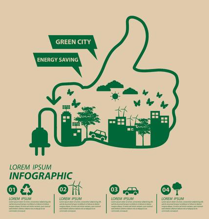 Ecologia concetto. salvare illustrazione vettoriale mondo. Archivio Fotografico - 42442194