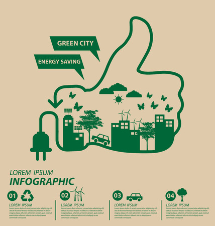 Ecology concept. save world vector illustration. Ilustracja