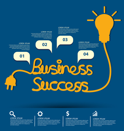 posicionamiento de marca: El éxito de negocio concepto de ilustración vectorial.