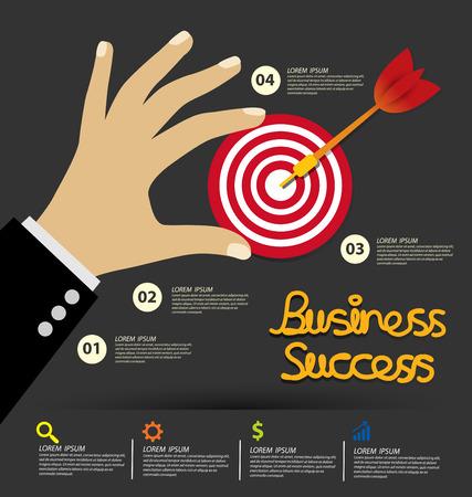 business success concept: Business Success concept vector illustration.