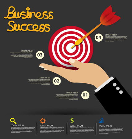 success concept: Business Success concept vector illustration.