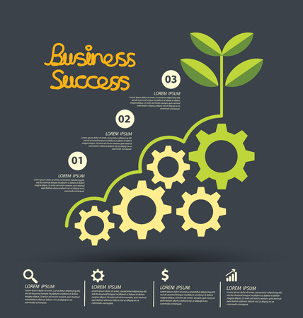 El éxito de negocio concepto de ilustración vectorial.
