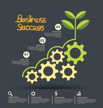 desarrollo económico: El éxito de negocio concepto de ilustración vectorial.