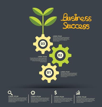 Business Success concept vector illustration.