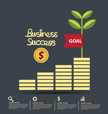 success concept: Business Success concept vector illustration.