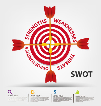 swot analysis: Swot analysis. Business concept vector.