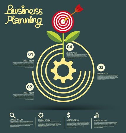 business money: Business infographic vector illustration