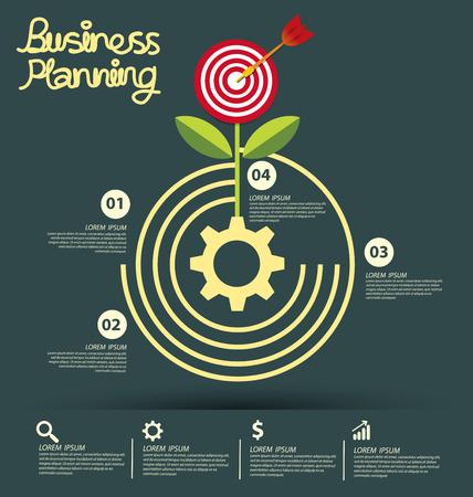 diagrama de arbol: Negocios ilustraci�n vectorial infograf�a Vectores