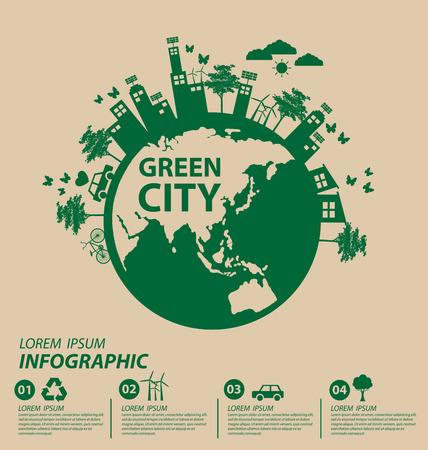 Ecology concept. save world vector illustration. Ilustração