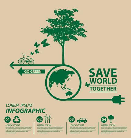 ecology concept: Ecology concept. save world vector illustration. Illustration