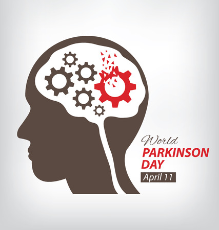 mental disorder: World Parkinson Day concept.