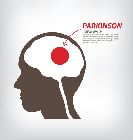 paralysis: World Parkinson Day concept.