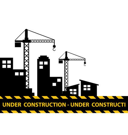 construction background: under construction background Illustration