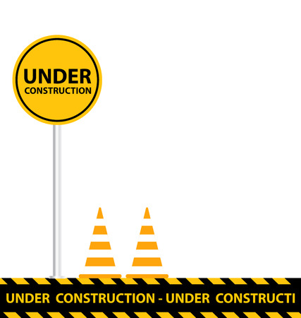 barricade: under construction background Illustration